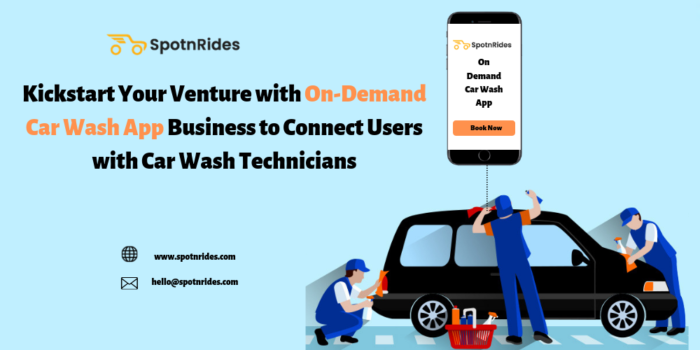 Are you planning to launch your on-demand car wash app startup, it will be easy with SpotnRides  ...