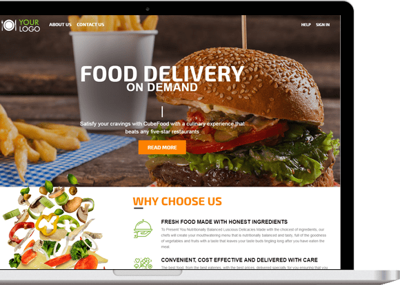 Oh, hungry? Order food online with food delivery service app – food delivery app on demand ...