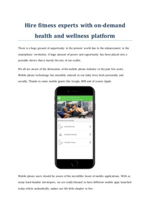 Perform to be fit with Avigo app clone