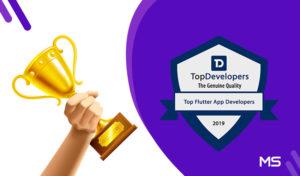 TopDevelopers.co Announced Metizsoft As A Top Flutter App Development Company.