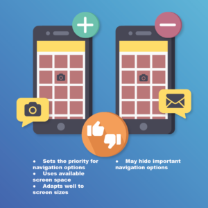 Choose the right mobile navigation pattern