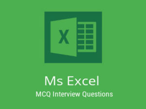 MS Excel MCQ Quiz Microsoft Excel is a software program produced by Microsoft that allows users  ...