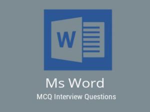 MS Word MCQ Quiz Microsoft Word is a word processor developed by Microsoft. It was first release ...