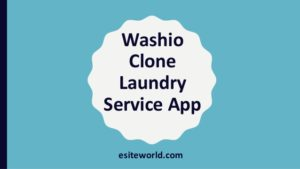 Washio clone: On-Demand laundry Service app