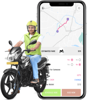 Become a part of the fledgling bike taxi cab business with this cutting edge Rapido clone that c ...