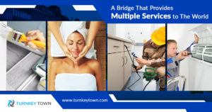A bridge that provides multiple services to the world