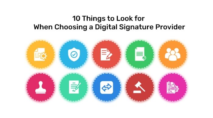 CrowdforApps : Blog -10 Things to Look for When Choosing an Digital Signature Provider