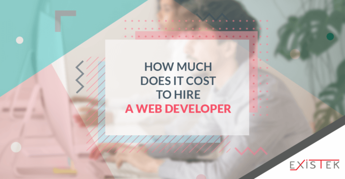 How Much Does It Cost To Hire a Web Developer   Existek Blog
