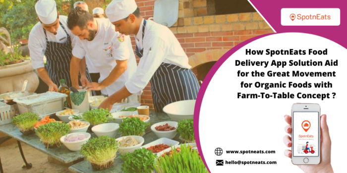 Start a Farm to Table Concept-Based Restaurant Business Using SpotnEats Organic Food Delivery Ap ...