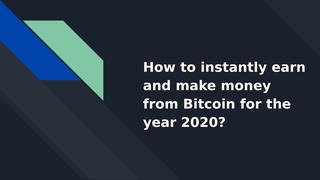How to make money from Bitcoin? by coinsclone