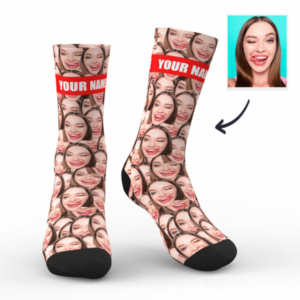 Custom Photo Mash Socks With Your Text- Funny Face Socks – MyFaceSocksUK