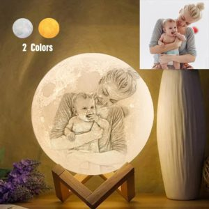 Personalized Creative 3D Print photo Moon Lamp, Engraved Lamp, Gift Fo – photomoonlamp