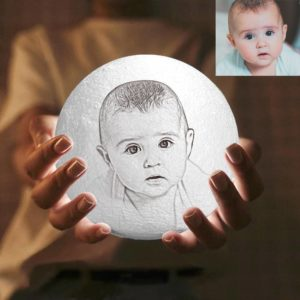 2 Color Personalized Custom 3D Printing Photo Moon Light Lamp,Baby Gift – GetCustomPhoneCase