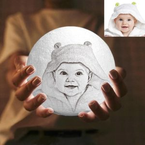 3 Color Personalized Custom 3D Printing Photo Moon Light Lamp,Baby Gift – GetCustomPhoneCase