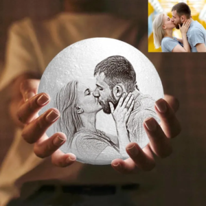 Personalized Custom 3D Printing Photo Moon Light Lamp,Anniversary,Birthday Gift – GetCusto ...