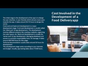 The Economy Involved in Developing a Food Delivery App Ever wondered how much does it cost to de ...