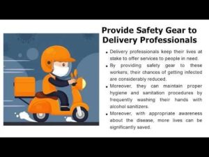 The safety of food deliveries depends on users, delivery professionals, as well as restaurants.  ...