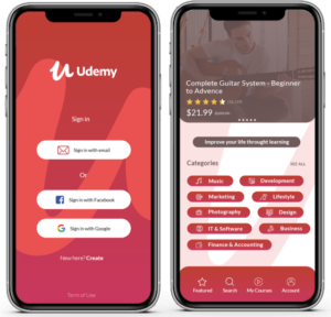 How to Develop an eLearning App & Website Like Udemy  Explore eLearning mobile app like udem ...
