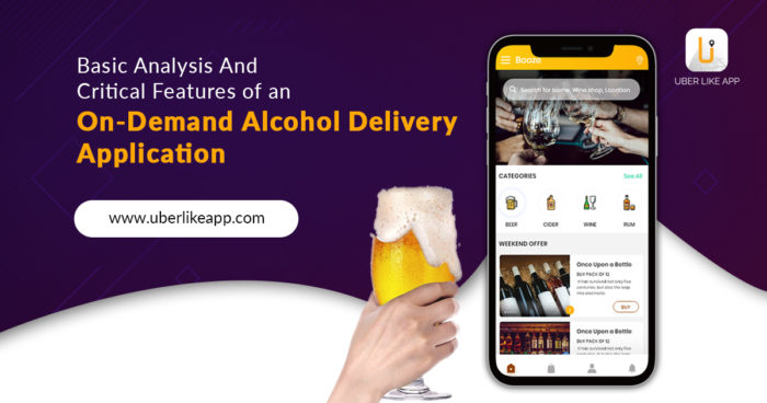 Basic analysis and critical features of an on-demand alcohol delivery application