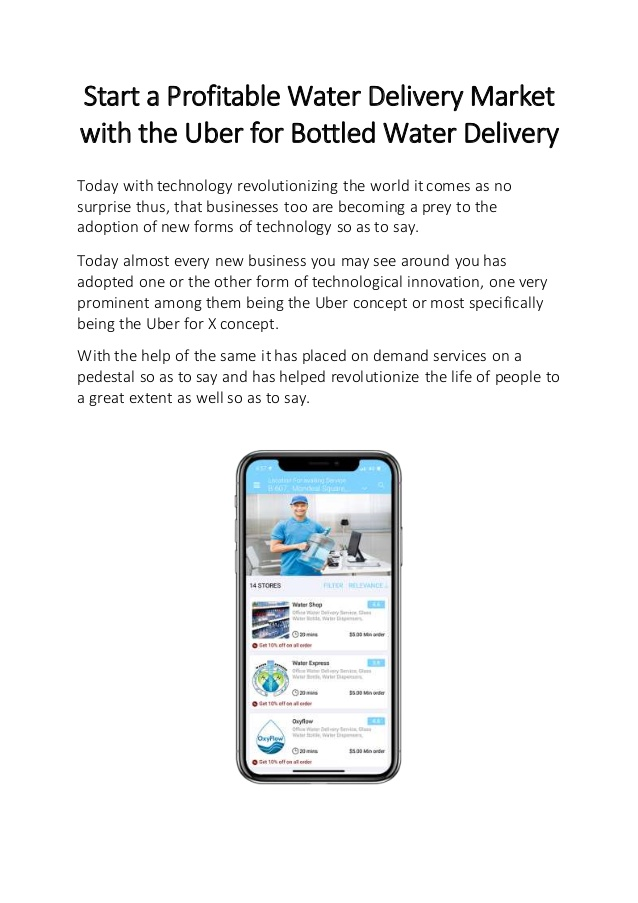 Start a Profitable Water Delivery Market with the Uber for Bottled Water Delivery