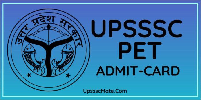UPSSSC PET Admit Card 2020 | Check Exam Date – Upsssc Mate