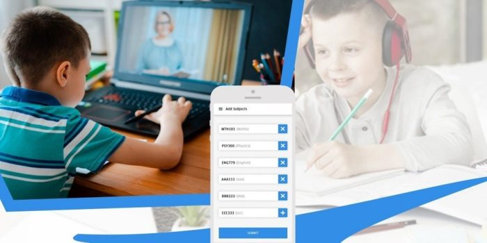 How does an online tutoring app facilitate the learning process