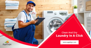 The simple and effective workflow of Uber for laundry services app
