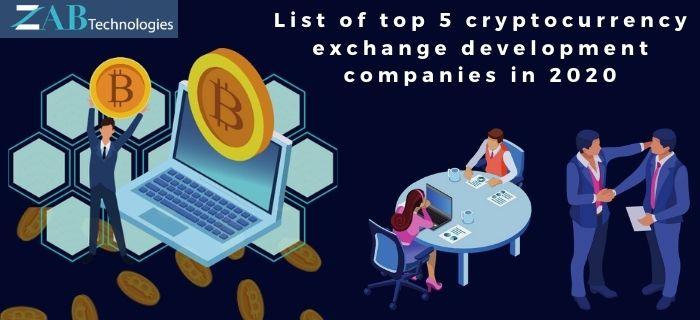 List of top 5 cryptocurrency exchange development companies in 2020