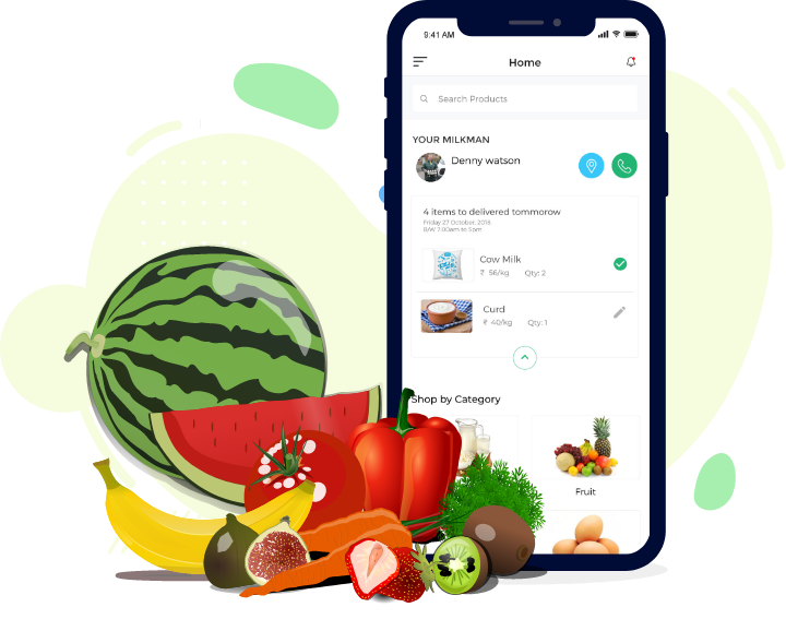 Mobile app for Fruits and Vegetables Delivery – Vegetables Delivery App. Contact us now an ...