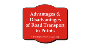 5+ Advantages and Disadvantages of Road Transport in Points