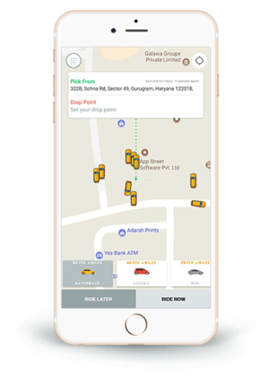 Develop a taxi application: Establish your own ride-hailing business