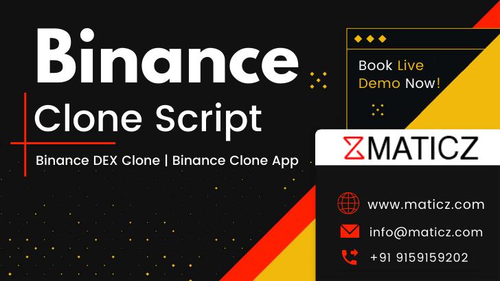 Binance Clone Script   Binance Exchange Clone   Binance DEX Clone   Binance Clone App   Maticz