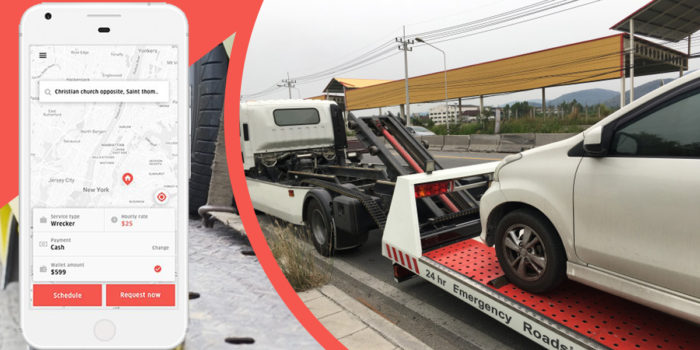Provide a helping hand to the stranded at using the Uber for tow trucks app