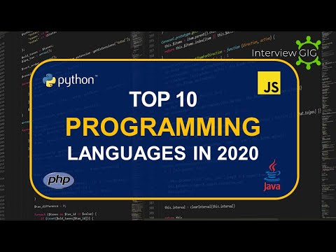Top 10 Programming Languages in 2020 || Most Used Programming Languages || – YouTube