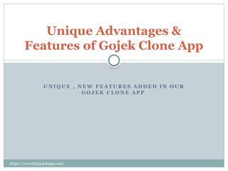 Unique Advantages & features for Gojek Clone App