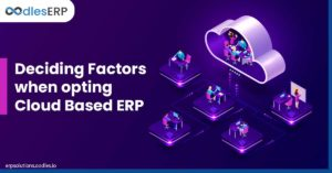 Deciding Factors when opting Cloud Based ERP software solutions