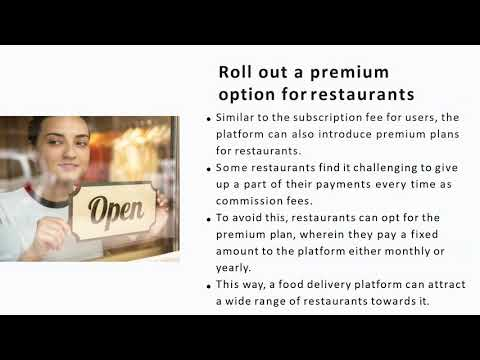 Restaurants are looking for opportunities to take their business online, and a third-party food delivery platform can bridge the gap between restaurants and customers. Let's look at how an entrepreneur can expand the food delivery business to multiple ...