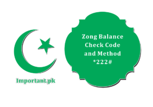 How To Check Zong Balance With Code Method