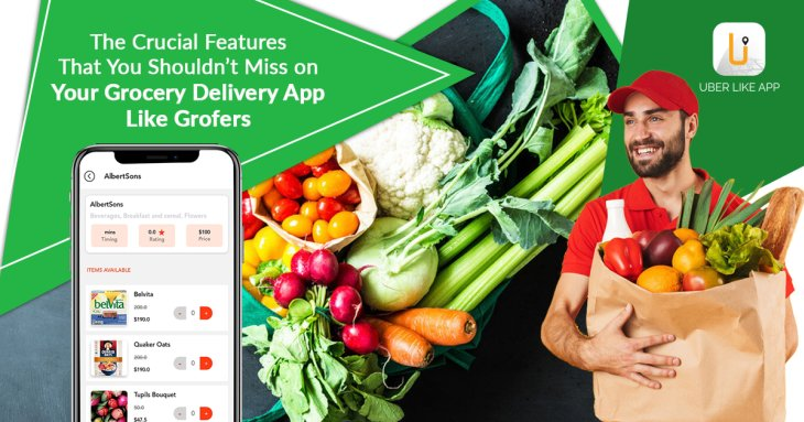 The crucial features that you shouldn't miss on your grocery delivery app like Grofers https://w ...