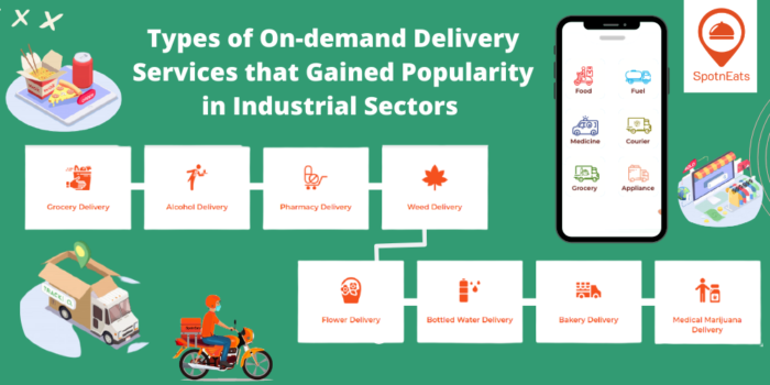 Types of On-Demand Delivery Services That Gained Popularity in Industrial Sectors