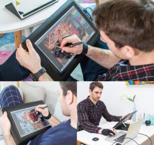 Artist 15.6 mesa digitalizadora com monitor boa e barata | XP-PEN