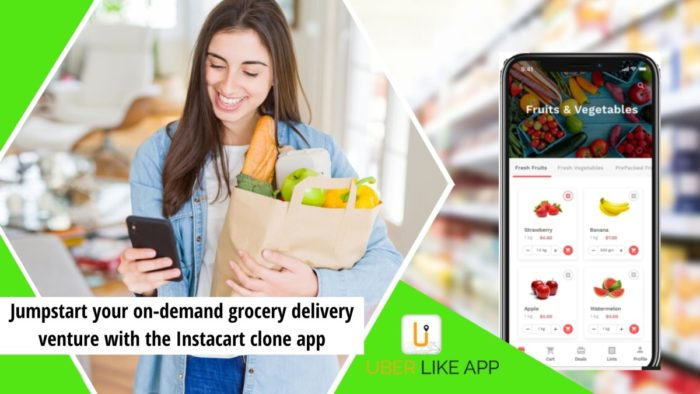 The emergence and success of Instacart in the on-demand grocery delivery app business has captur ...