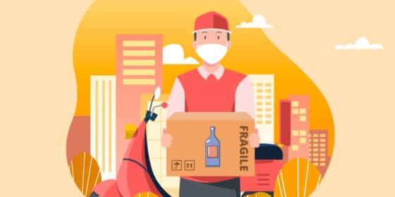 How does an on-demand alcohol delivery app work?