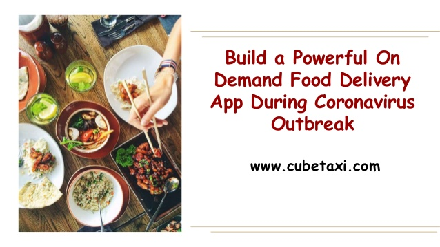 On Demand Food Delivery App During Coronavirus Outbreak