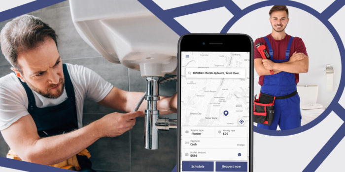 Empower your online business with an uber like app for plumbing service.