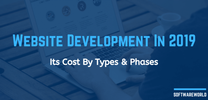 Website Development In 2019: Its Cost By Types and Phases