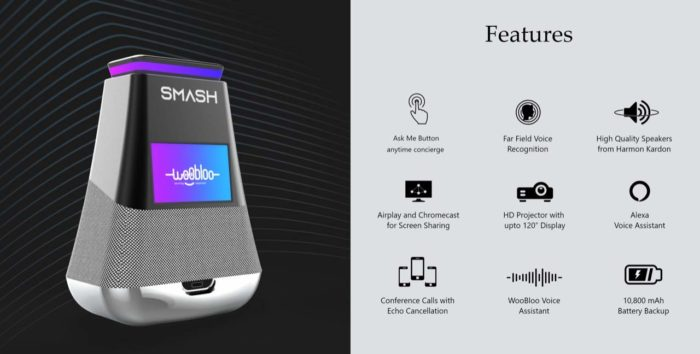 WooBloo SMASH which is a combination of smart projector and speaker. SMASH best smart projector  ...