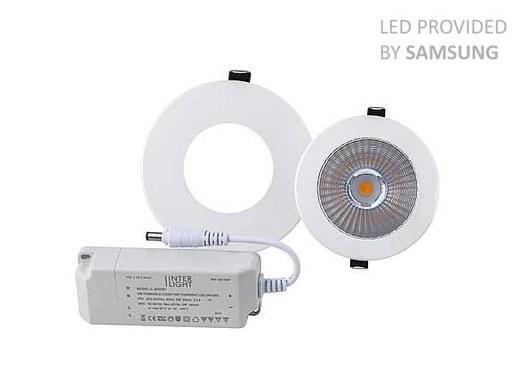 8W LED Einbauspot für ein 90mm Ausschnitt in 3000K Warmweiß, Topp CRI90 Farbwiedergabe sowie dim ...
