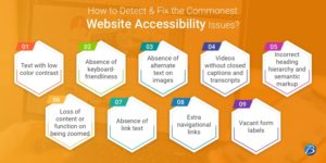How to Detect & Fix the Commonest Website Accessibility Issues?