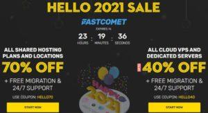FASTCOMET HELLO 2021 SALE – New Year SALE